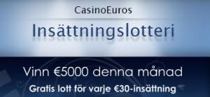 CasinoEuro insättningslotteri