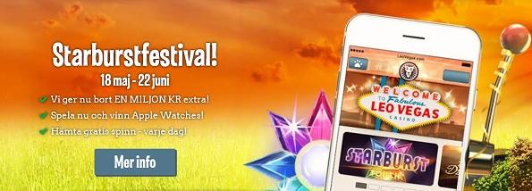 Leo Vegas (Starburst kampanj, mobilen)